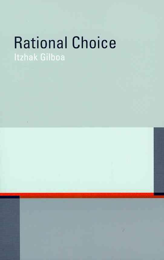 Rational Choice By Gilboa, Itzhak